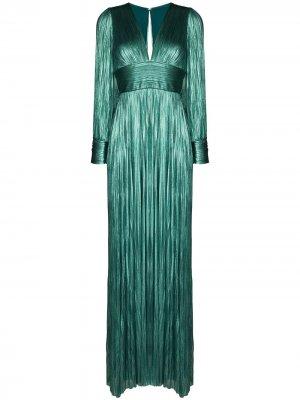 Плиссированное вечернее платье Lidia Maria Lucia Hohan. Цвет: синий