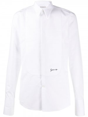 Рубашка с вышитым логотипом Givenchy. Цвет: белый