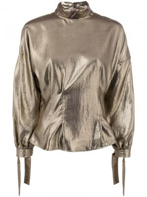 Loose frilled blouse 8pm. Цвет: металлик