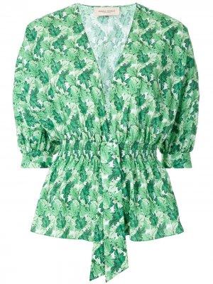 Crisântemo printed blouse Adriana Degreas. Цвет: зеленый