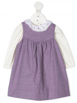 Платье-сарафан с длинными рукавами Ralph Lauren Kids. Цвет: белый