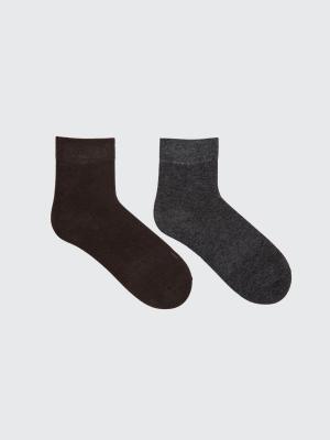 НОСКИ ЖЕНСКИЕ (2 пары) Mark Formelle. Цвет: коричневый