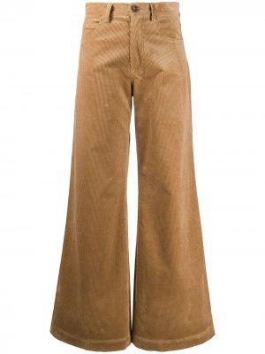 Расклешенные брюки с завышенной талией Société Anonyme. Цвет: коричневый