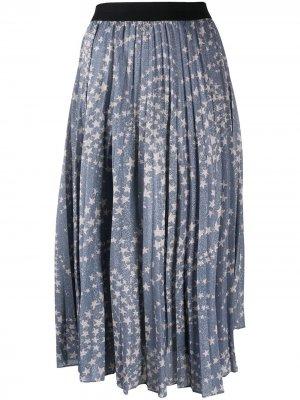 Плиссированная юбка Lyanna By Malene Birger. Цвет: синий