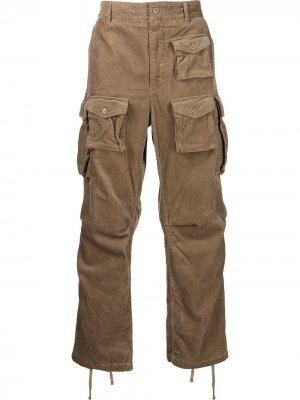 Вельветовые брюки карго Engineered Garments. Цвет: коричневый