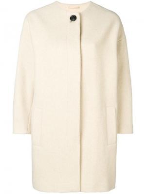 Structured cocoon coat Filippa-K. Цвет: белый