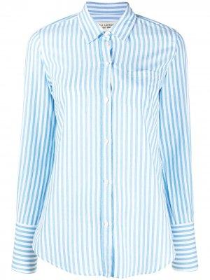 Рубашка в полоску Nili Lotan. Цвет: синий