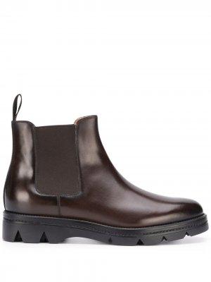 Ботинки челси Santoni. Цвет: коричневый
