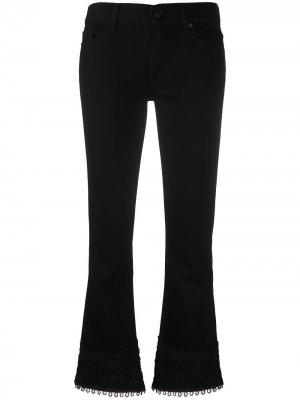 Укороченные джинсы bootcut Illusion 7 For All Mankind. Цвет: черный
