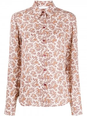 Рубашка с принтом пейсли Chloé. Цвет: розовый