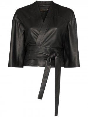 Укороченный жакет-кимоно Natalya Skiim. Цвет: черный