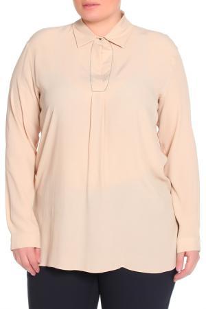 Рубашка-блузка Elena Miro. Цвет: кремовый