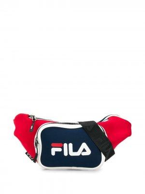 Поясная сумка с логотипом Fila. Цвет: красный