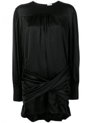 Коктейльное платье с жемчугом Magda Butrym. Цвет: черный