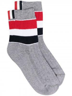 Носки Athletic с полосками Thom Browne. Цвет: серый