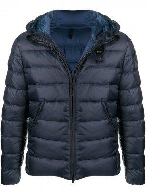 Куртка-пуховик Blauer. Цвет: синий