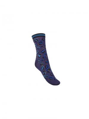 Носки с принтом FF Fendi. Цвет: синий