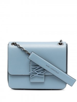 Сумка на плечо Autograph Karl Lagerfeld. Цвет: голубой