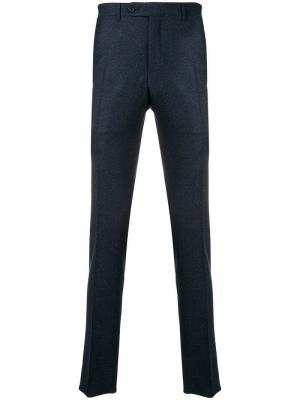 Classic tailored trousers Canali. Цвет: синий