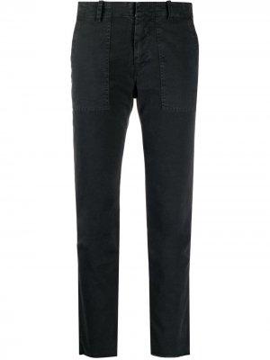 Укороченные брюки чинос Nili Lotan. Цвет: черный