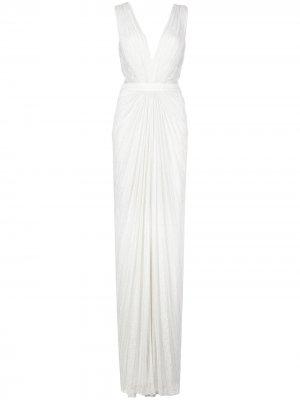 Кружевное платье Killian Tadashi Shoji. Цвет: белый