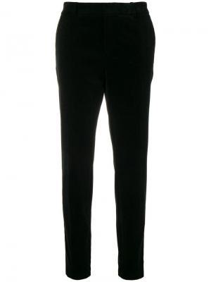 Классические брюки кроя слим Saint Laurent. Цвет: черный