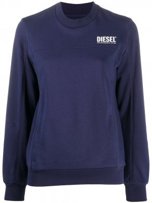 Толстовка Victorial с логотипом Diesel. Цвет: синий