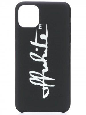 Чехол для iPhone 11 Pro Max с логотипом Off-White. Цвет: черный