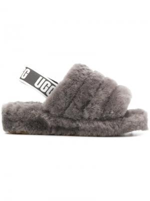 Slingback woolly slippers UGG. Цвет: серый
