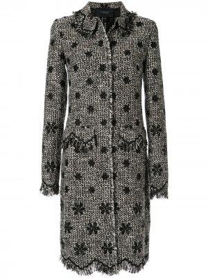 Твидовое пальто Giambattista Valli. Цвет: черный