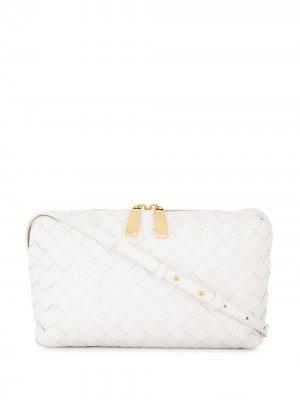 Мини-сумка с плетением Intrecciato Bottega Veneta. Цвет: белый