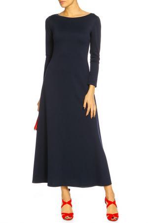 Платье Футляр Макси Alina Assi. Цвет: темно-синий