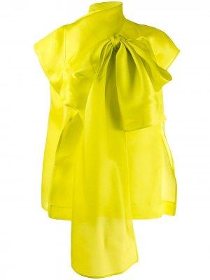 Блузка оверсайз с бантом Nina Ricci. Цвет: зеленый