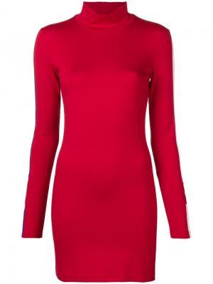 Короткое платье MARCELO BURLON COUNTY OF MILAN X NBA. Цвет: красный