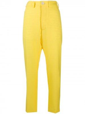 Зауженные брюки Vivienne Westwood. Цвет: желтый