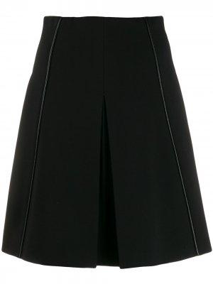Мини-юбка А-силуэта Dorothee Schumacher. Цвет: черный