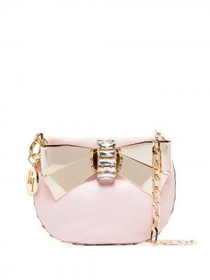 Декорированная мини-сумка Betta Rosantica. Цвет: розовый