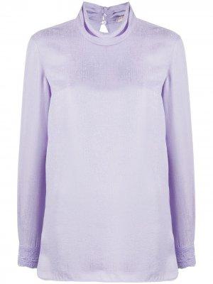 Блузка с воротником-хомутом Emilio Pucci. Цвет: фиолетовый