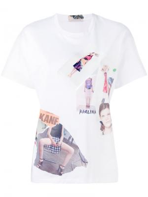 Scrapbook T-shirt Christopher Kane. Цвет: белый