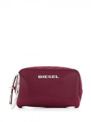 Косметичка с логотипом Diesel. Цвет: фиолетовый