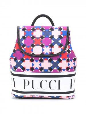 Рюкзак с принтом Emilio Pucci Junior. Цвет: розовый