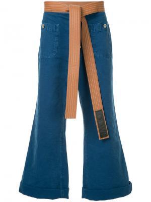 Расклешенные джинсы с поясом Loewe. Цвет: черный