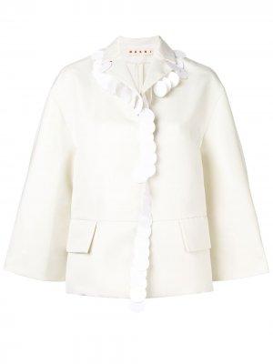 Пиджак с отделкой крупными пайетками Marni. Цвет: белый
