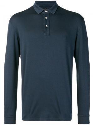 Рубашка-поло с длинными рукавами Altea. Цвет: синий