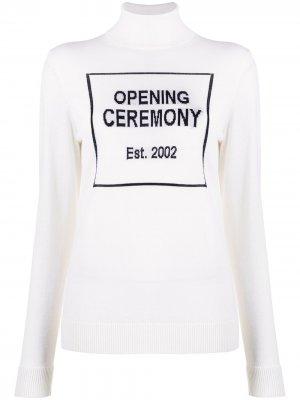 Водолазка с логотипом Opening Ceremony. Цвет: белый