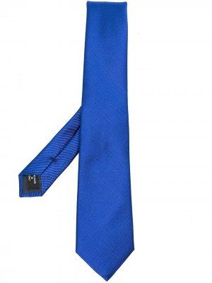 Фактурный галстук Giorgio Armani. Цвет: синий