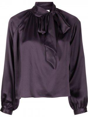 Блузка с бантом Michelle Mason. Цвет: фиолетовый