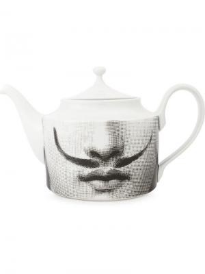 Заварочный чайник с принтом Fornasetti. Цвет: черный