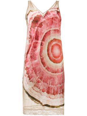 Сетчатое платье с принтом агата Givenchy. Цвет: нейтральные цвета
