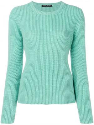 Ribbed jersey top Iris Von Arnim. Цвет: зеленый